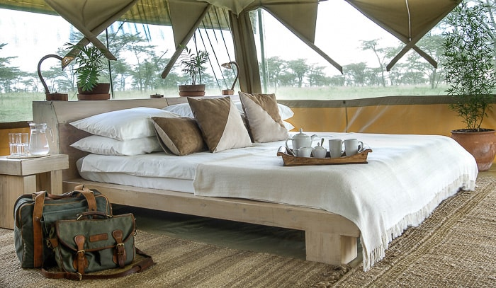 Luxury safari camp in the masai mara